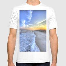 Atlantic Sunset Mens Fitted Tee White MEDIUM