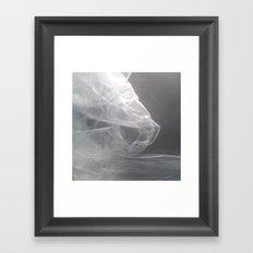 An unfinished rose Framed Art Print
