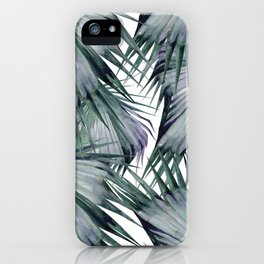 Tropical Leaves Green iPhone Case