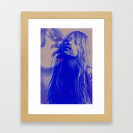 double Kate blues (kate moss) Framed Art Print