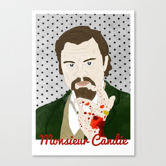 Monsieur Candie from Django Unchained Canvas Print