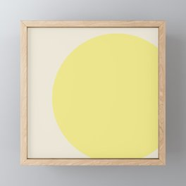 color field - yellow and cream Framed Mini Art Print
