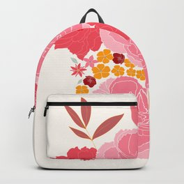 Flower bouquet with peonies Backpack