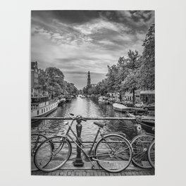 Typical Amsterdam   Monochrome Poster
