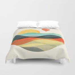 Let the world be your guide Duvet Cover