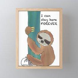 I can stay here forever Framed Mini Art Print