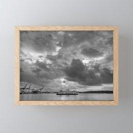 Elliott Bay Ferry Framed Mini Art Print