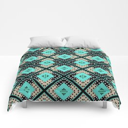 Geometric patchwork 24 Comforters