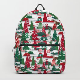 Whimsical Christmas woods Backpack
