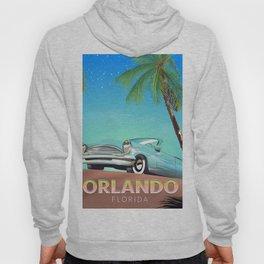 Orlando Florida vintage travel poster, Hoody