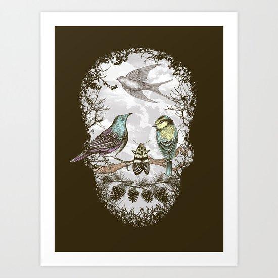 Nature's Skull II Art Print