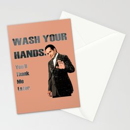 Wash Your Hands You'll Thank me Later_Andrian Monk. Stationery Cards