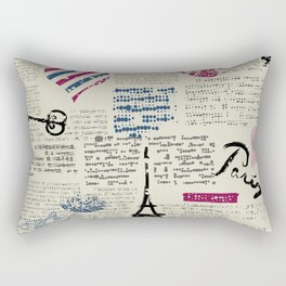 Paris, France Eiffel Tower Rectangular Pillow