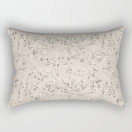 Resting foxes Rectangular Pillow