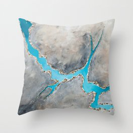 Sedimentary Topography Extended 2 Throw Pillow