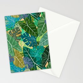 Elephant Ears and Monstera Stationery Cards