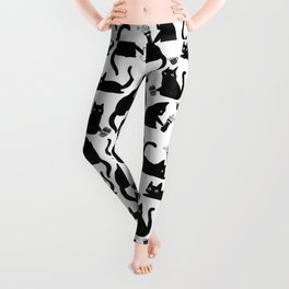 Bad Cats Knocking Stuff Over Leggings