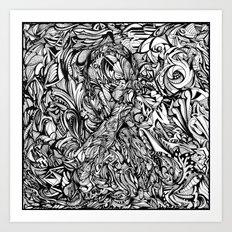 Conquer (Black & White Version)  Art Print