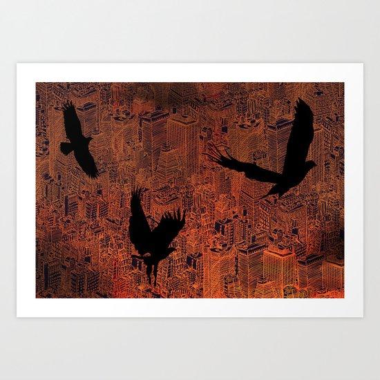 Ecotone (night) Art Print