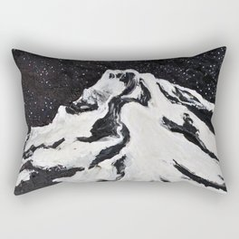 Mount Hood and Stars Rectangular Pillow