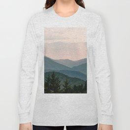 Smoky Mountain Pastel Sunset Long Sleeve T-shirt