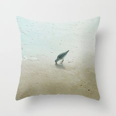 Lil Sandpiper Throw Pillow