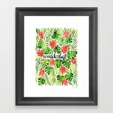 Tropical Wanderlust – Watermelon Palette Framed Art Print