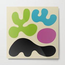 Mid Century Modern Organic Abstraction 339 Metal Print