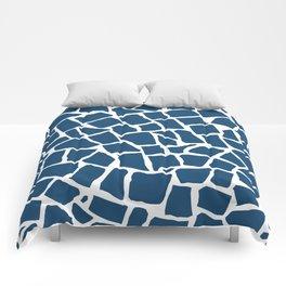 Mosaic Zoom Navy Comforters