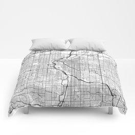 Denver Map White Comforters