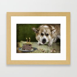I have to hurry before she sees me.............. Framed Art Print