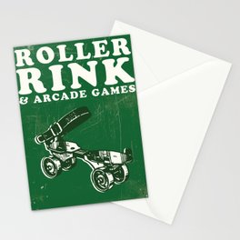 Roller Rink Art Print, Roller Skating Art, Roller Skating Poster, Sports Poster, Sports Art, Arcade Game Poster, Typography Art, Roller Skating Print, Housewarming, Roller Derby, Roller Derby Gift, Roller Rink Poster Stationery Cards