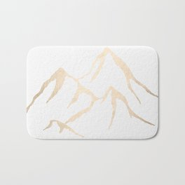 Adventure White Gold Mountains Bath Mat