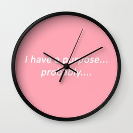 probably: pastel Wall Clock