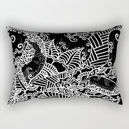 Zen Tree Rebirth Black Right Half Rectangular Pillow