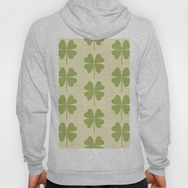 Seamless pattern with a leaf of clover Hoody