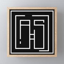 Initials A and S Framed Mini Art Print