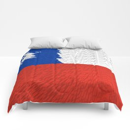 Extruded Flag of Chile Comforters