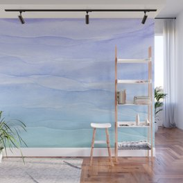 Layers Blue Ombre - Watercolor Abstract Wall Mural