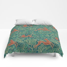 Jungle Fawn and Cat Comforters