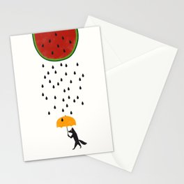 Raining Watermelon Stationery Cards