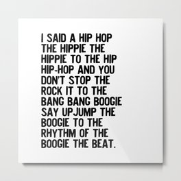 RAPPERS DELIGHT Hip Hop CLASSIC MUSIC Metal Print
