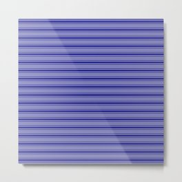 Wide Navy Blue Mattress Ticking Bed Stripes Metal Print