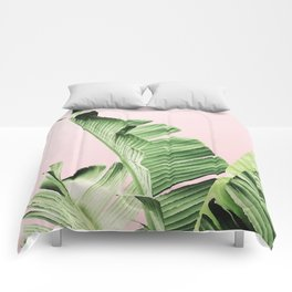 Banana Leaf on pink Comforters
