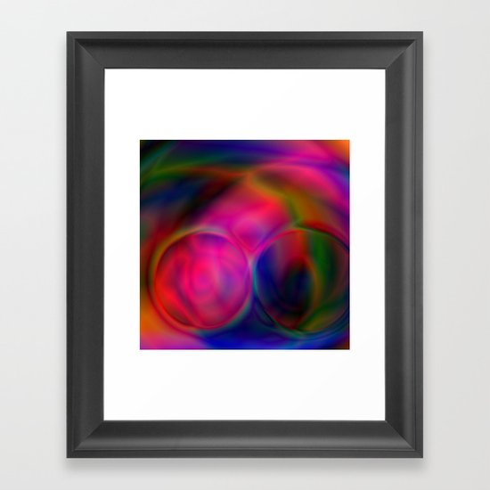Rainbow Soul Mates Framed Art Print