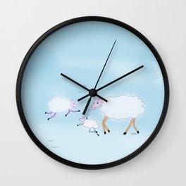 Sheep clouds Wall Clock