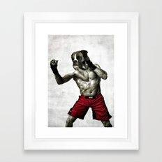 Boxer. The boxer fighter. Framed Art Print