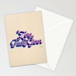 Zero F*cks Given – CMYK Palette Stationery Cards