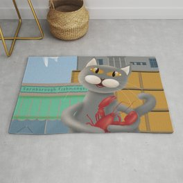 Cat and lobster Rug