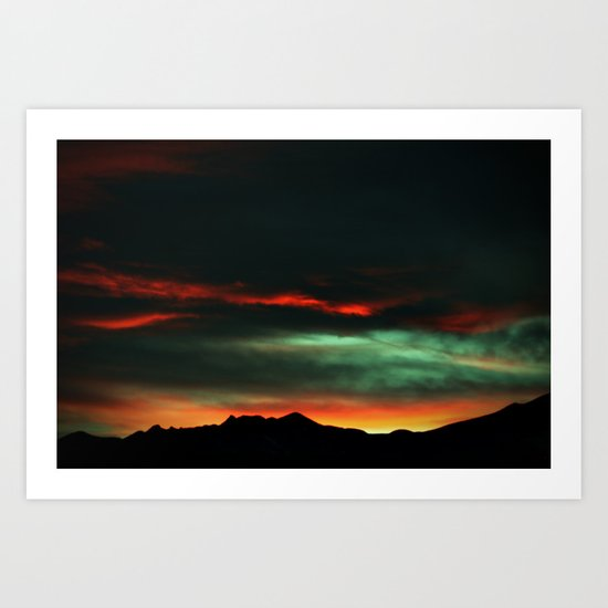 The Lowly Sky - Colorado Springs Art Print